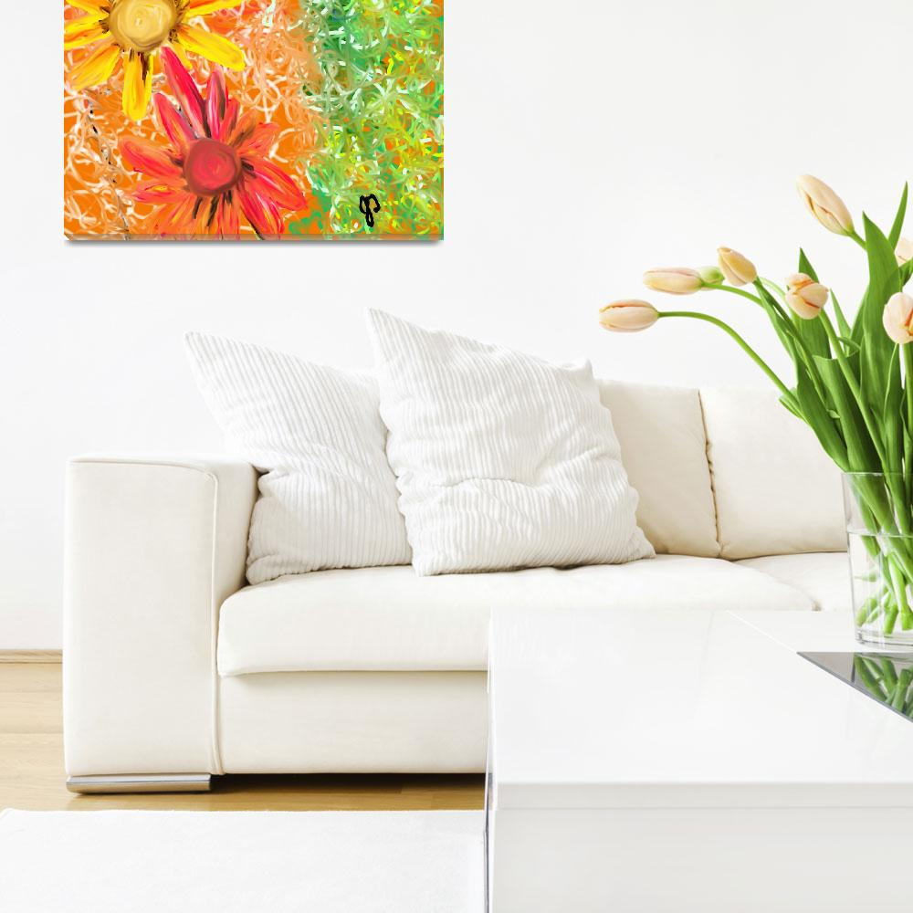 """Spring Pretty Floral Painting""  (2011) by JoDee"
