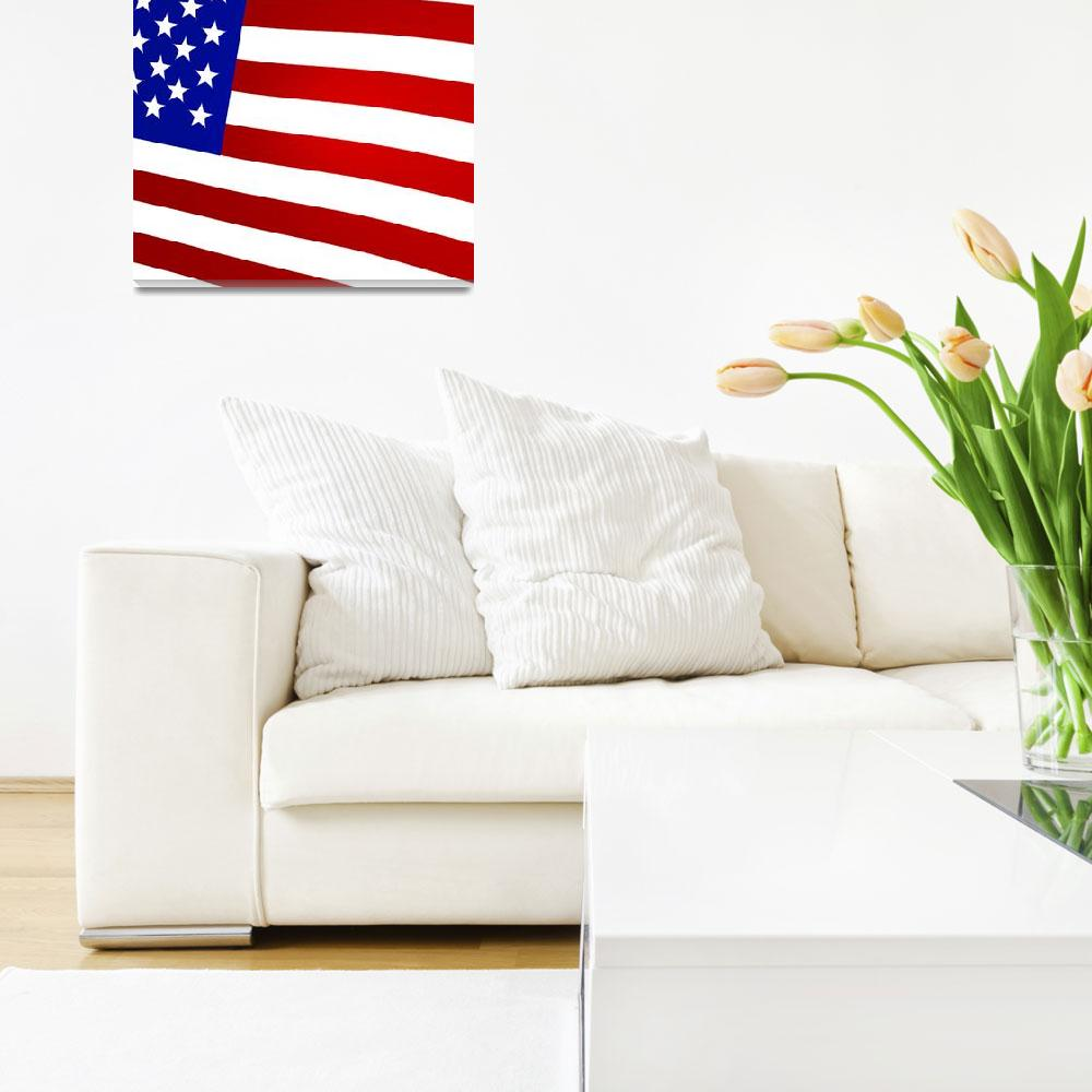 """""""3D Rendered United States Flag""""  (2013) by lutjo1953"""