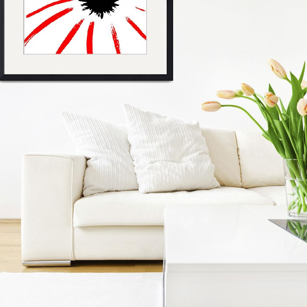 """""""Coneflower Black White And Red Series""""  (2013) by bettynorthcutt"""