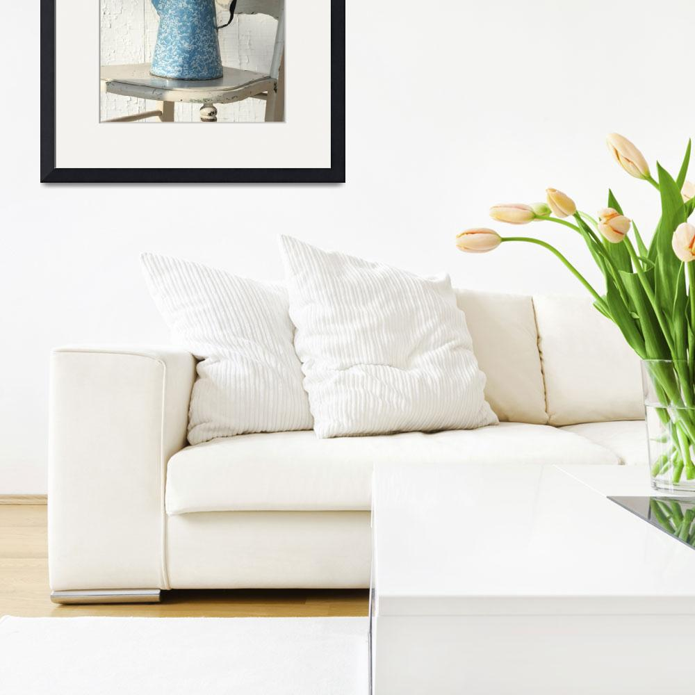 """""""Flowers on White Chair&quot  (2012) by JBTurek"""