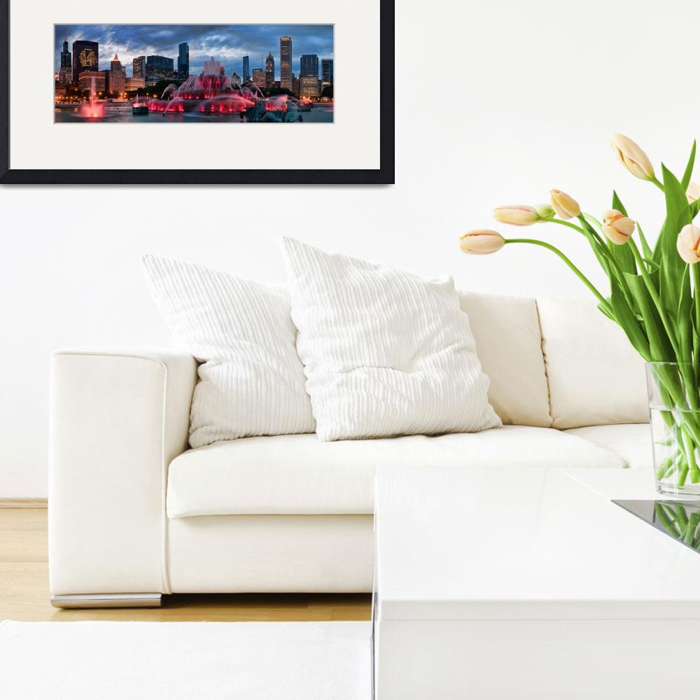 """""""Chicago Blackhawks Skyline&quot  (2010) by ChicagoPhotoShop"""