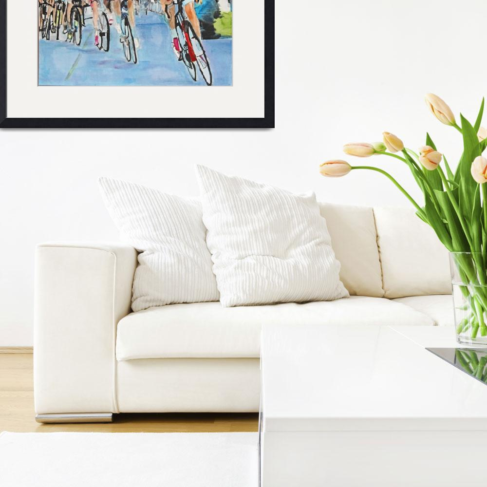 """""""Nibali breaks away to win Stage 2&quot  (2015) by DianaNadalFineArt"""