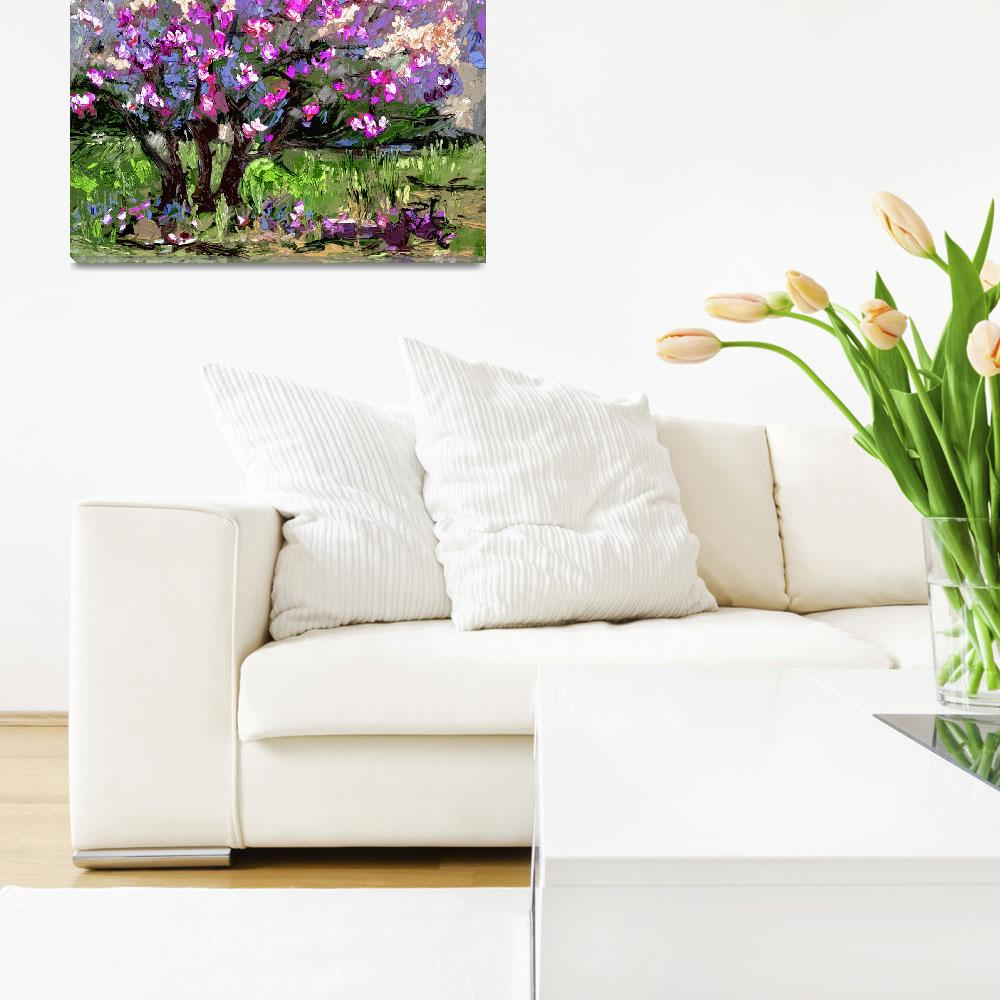 """""""Tulip Magnolia Modern Impressionist Art by Ginette""""  (2012) by GinetteCallaway"""