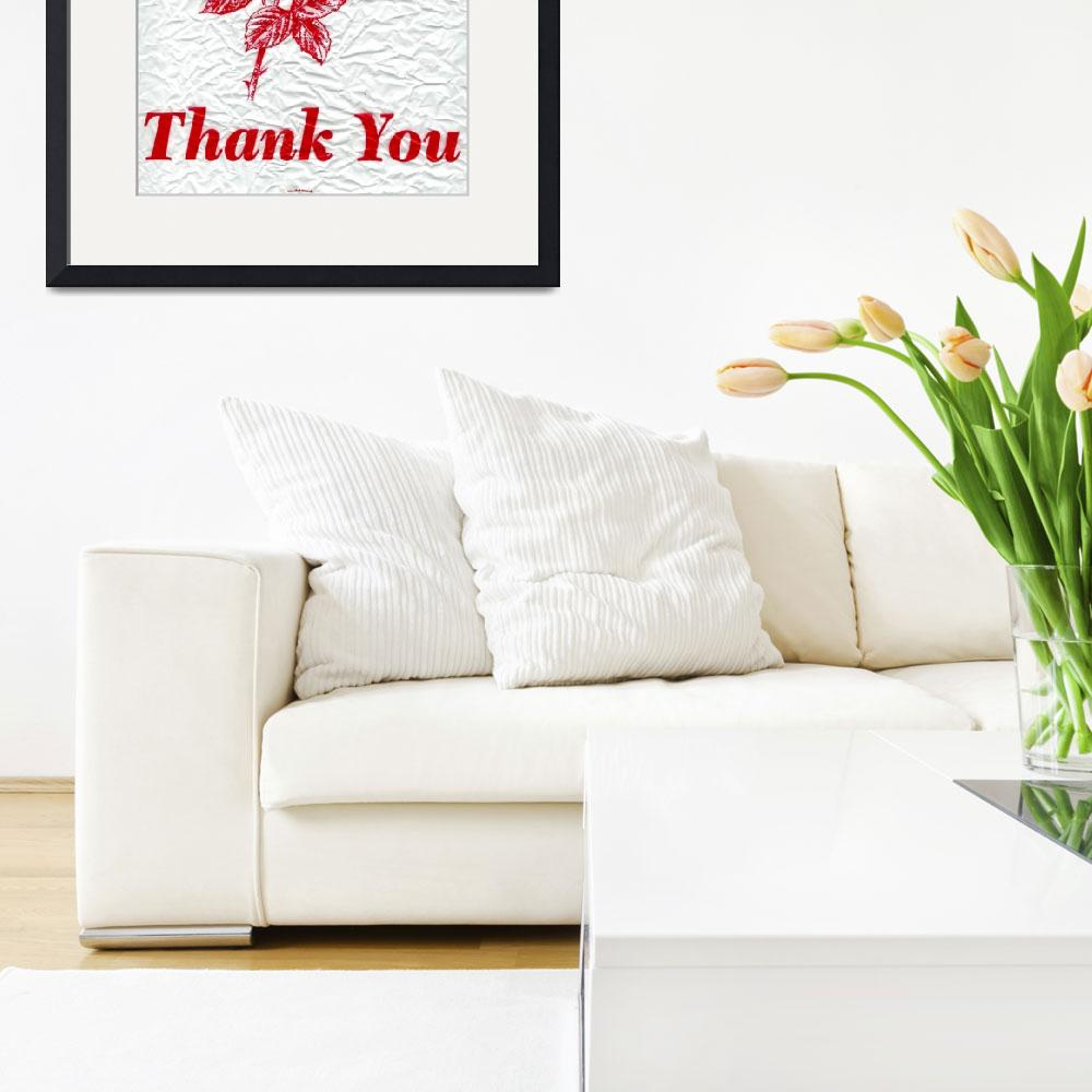 """thank you&quot  by amb"