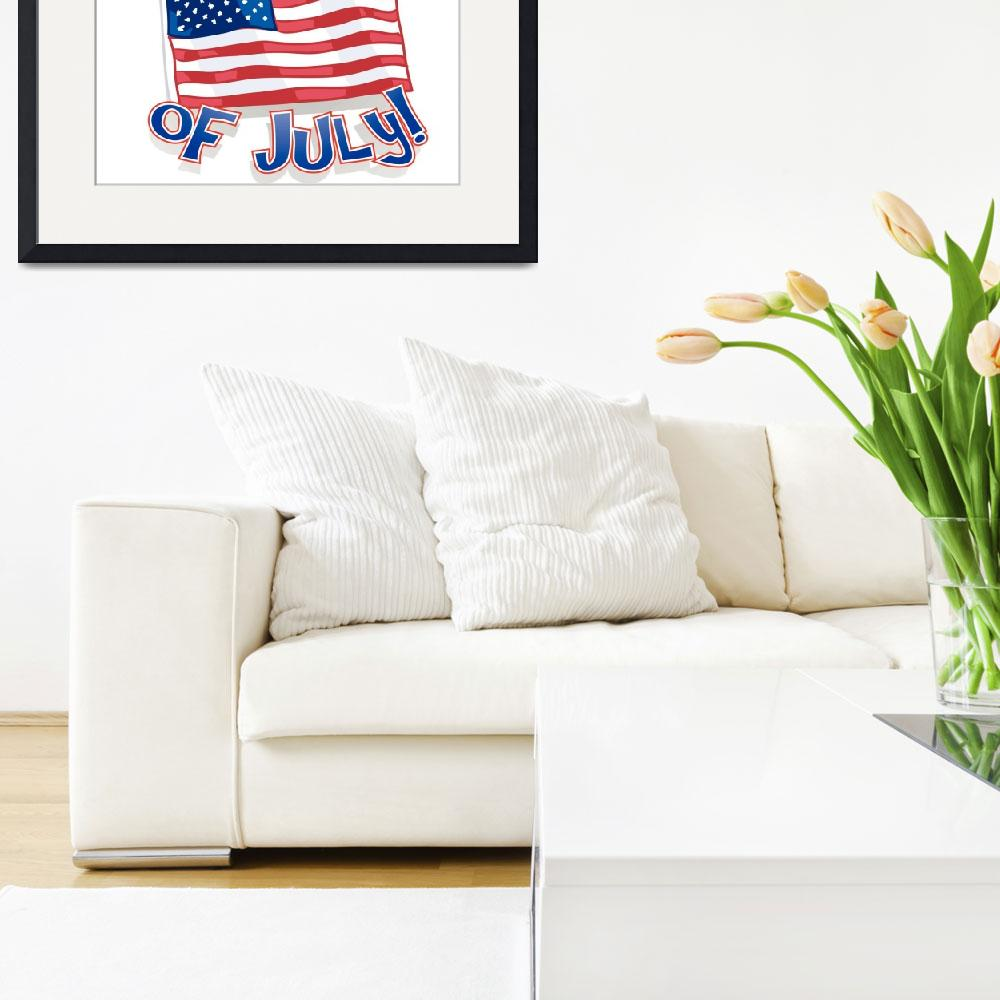 """""""Happy 4th Of July American Flag&quot  (2015) by AnswersFound"""