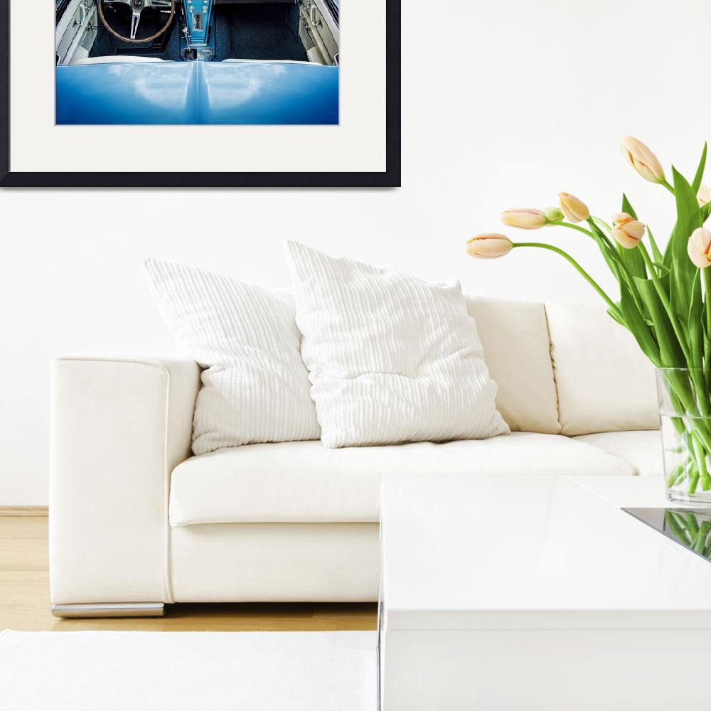 """""""Blue 60s Sting Ray Interior&quot  (2014) by kenjohnsonimagery"""