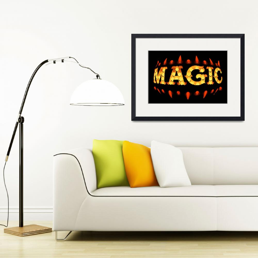 """Yellow Magic Neon Sign on Black""  (2012) by ToulaMavridouMesser"