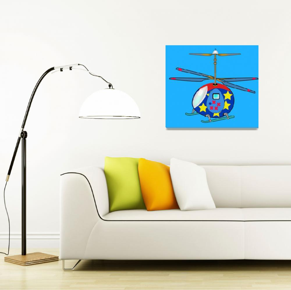 """""""Mikie the Helicopter&quot  by magicalview"""