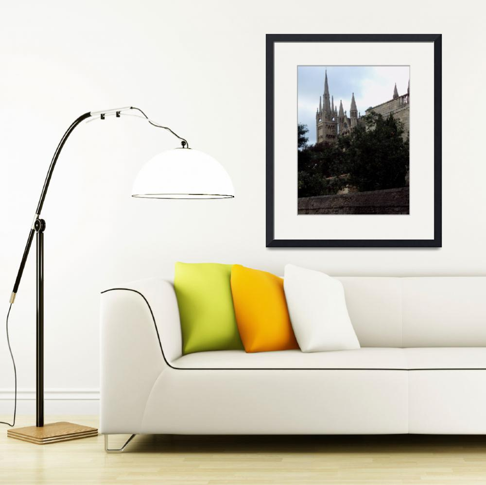"""""""Peterborough Cathedral&quot  (2009) by shepartpix"""