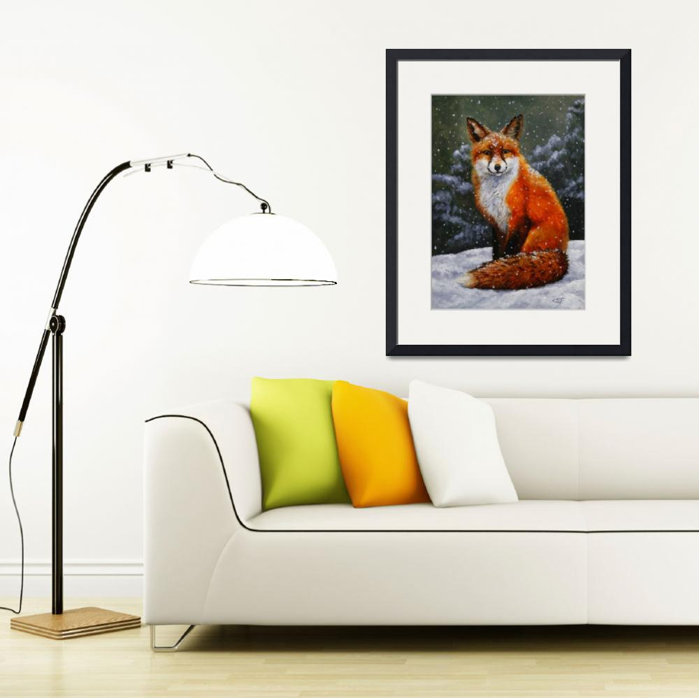 """""""Red Fox in Winter&quot  (2012) by csforest"""