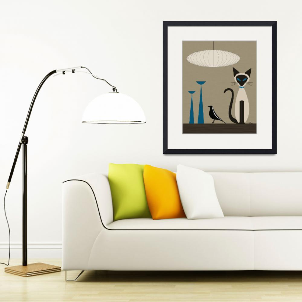 """Siamese with Eames House Bird&quot  by DMibus"