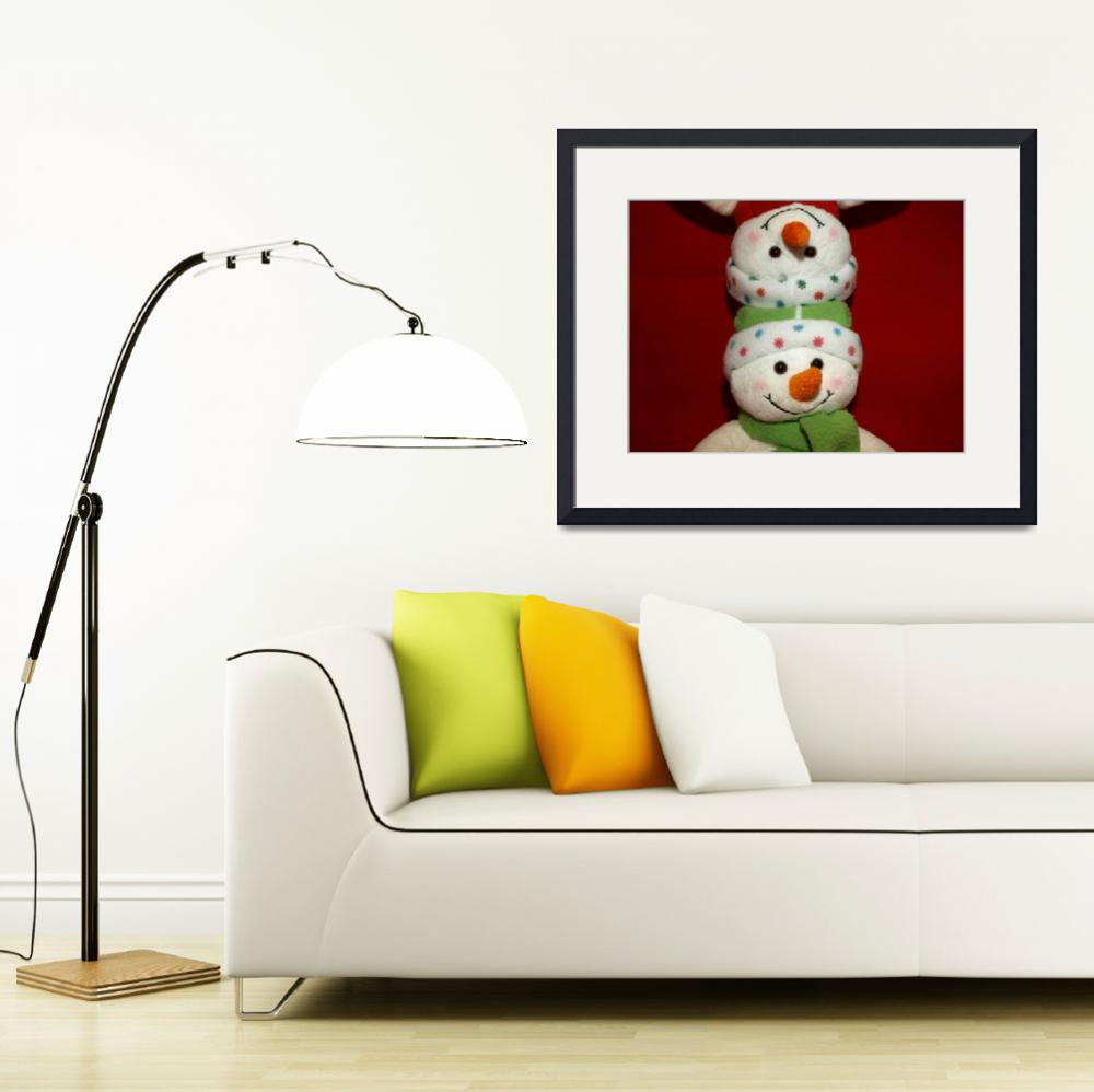 """""""Snowman waiting for Christmas 12""""  (2009) by Albertphoto"""