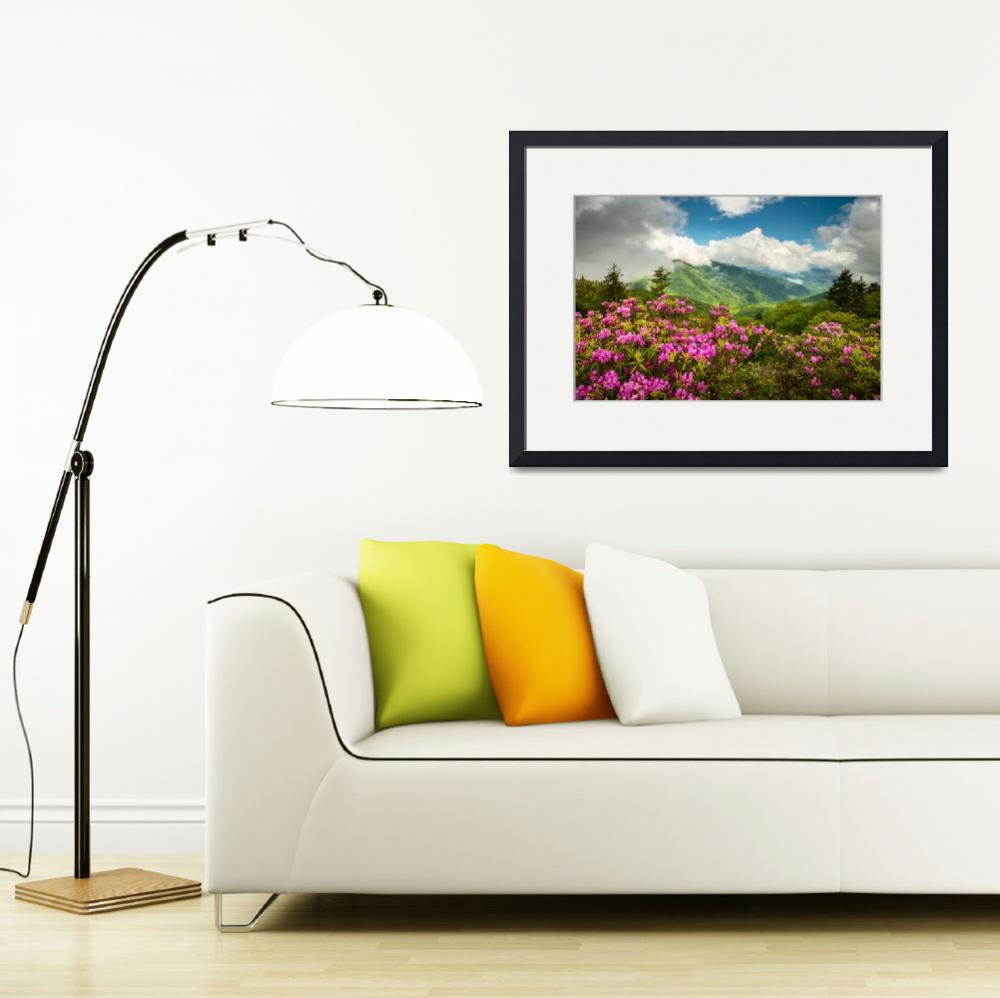 """""""Appalachian Mountains Spring Flowers Scenic Landsc&quot  (2016) by DAPhoto"""