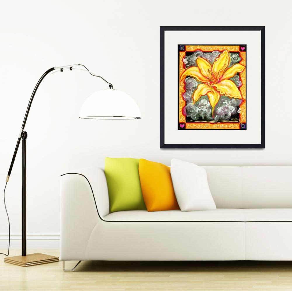 """""""yellow lily&quot  (2002) by mcbek"""