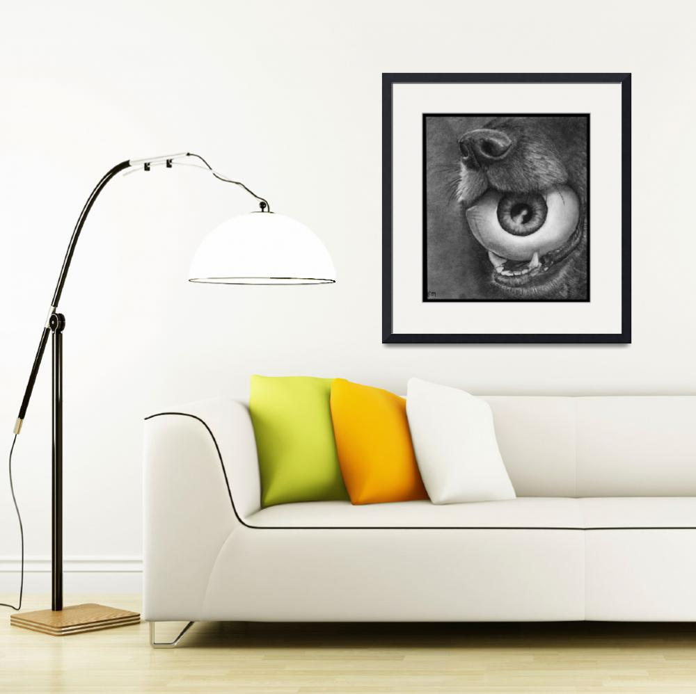 """Dog and Eye Ball&quot  (2009) by ArtByAlycia"