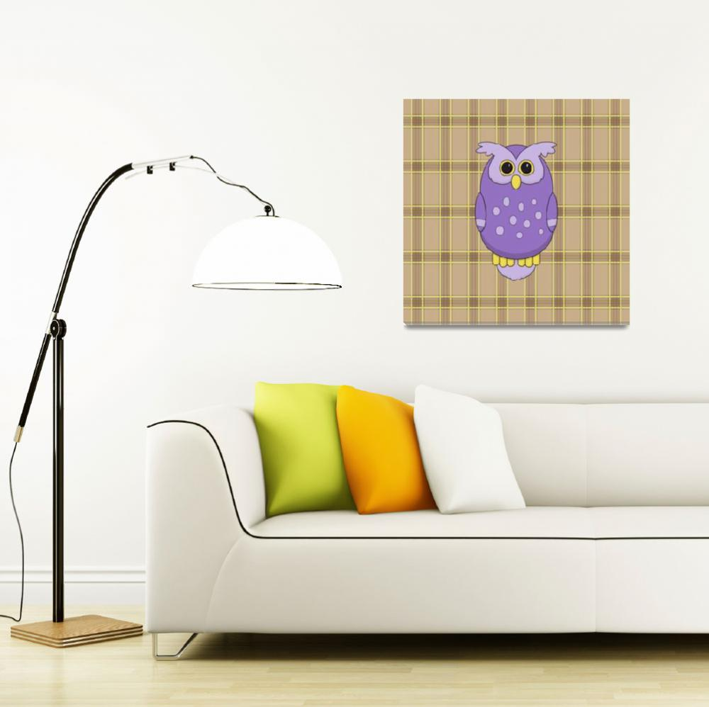 """Owl in Purple""  (2013) by InkFish"