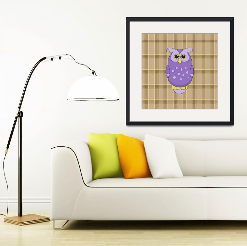 """Owl in Purple&quot  (2013) by InkFish"