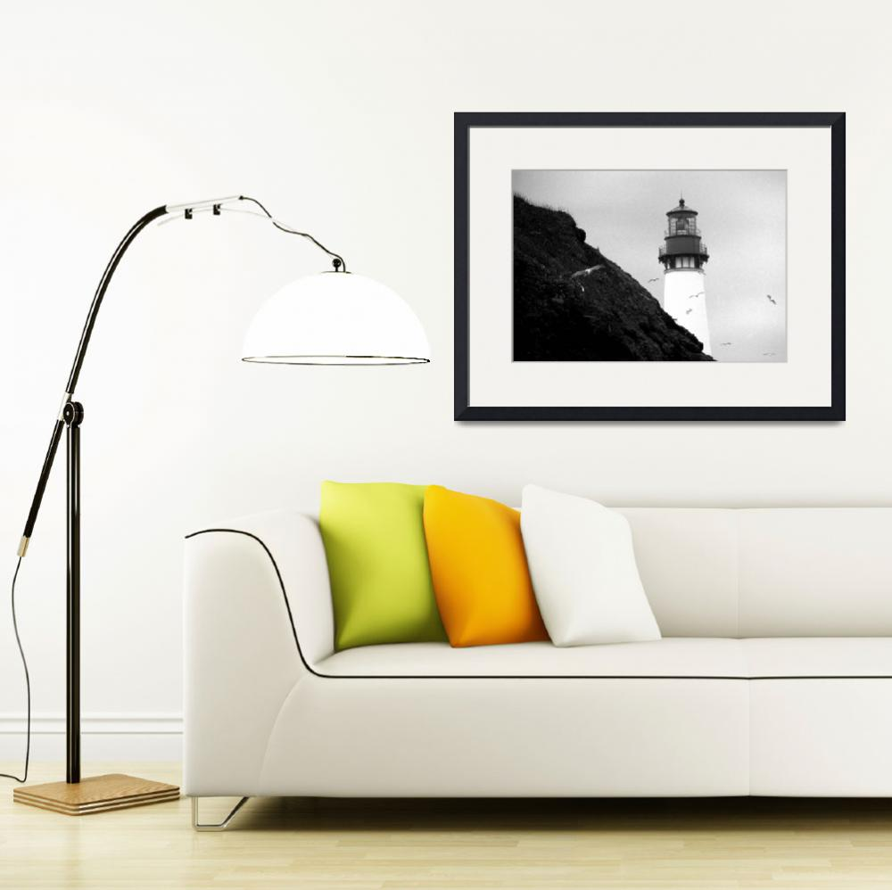 """""""Yaquina Lighthouse&quot  (2007) by christopherboswell"""