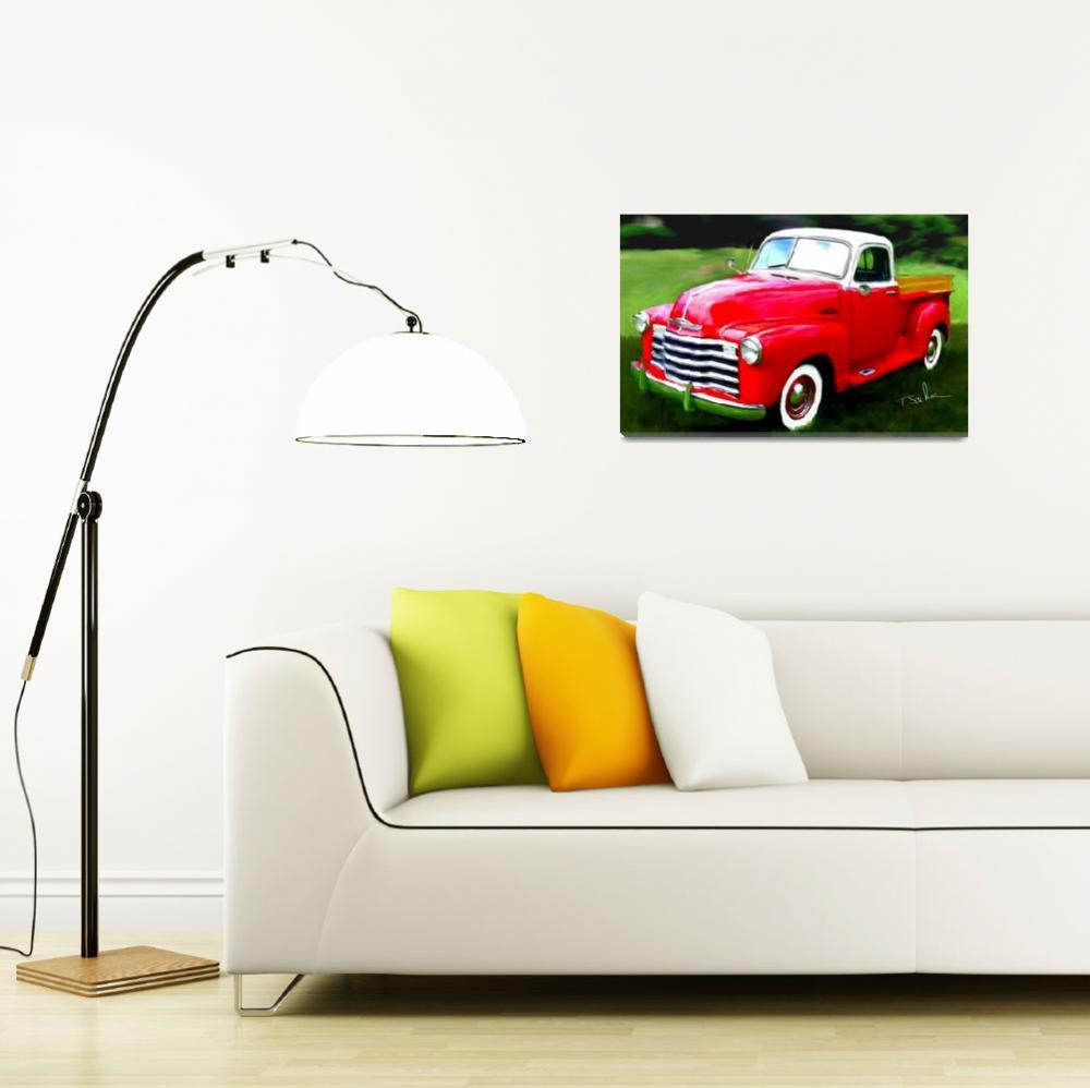 """1950 Chevrolet Model 3100""  by ArtbySachse"