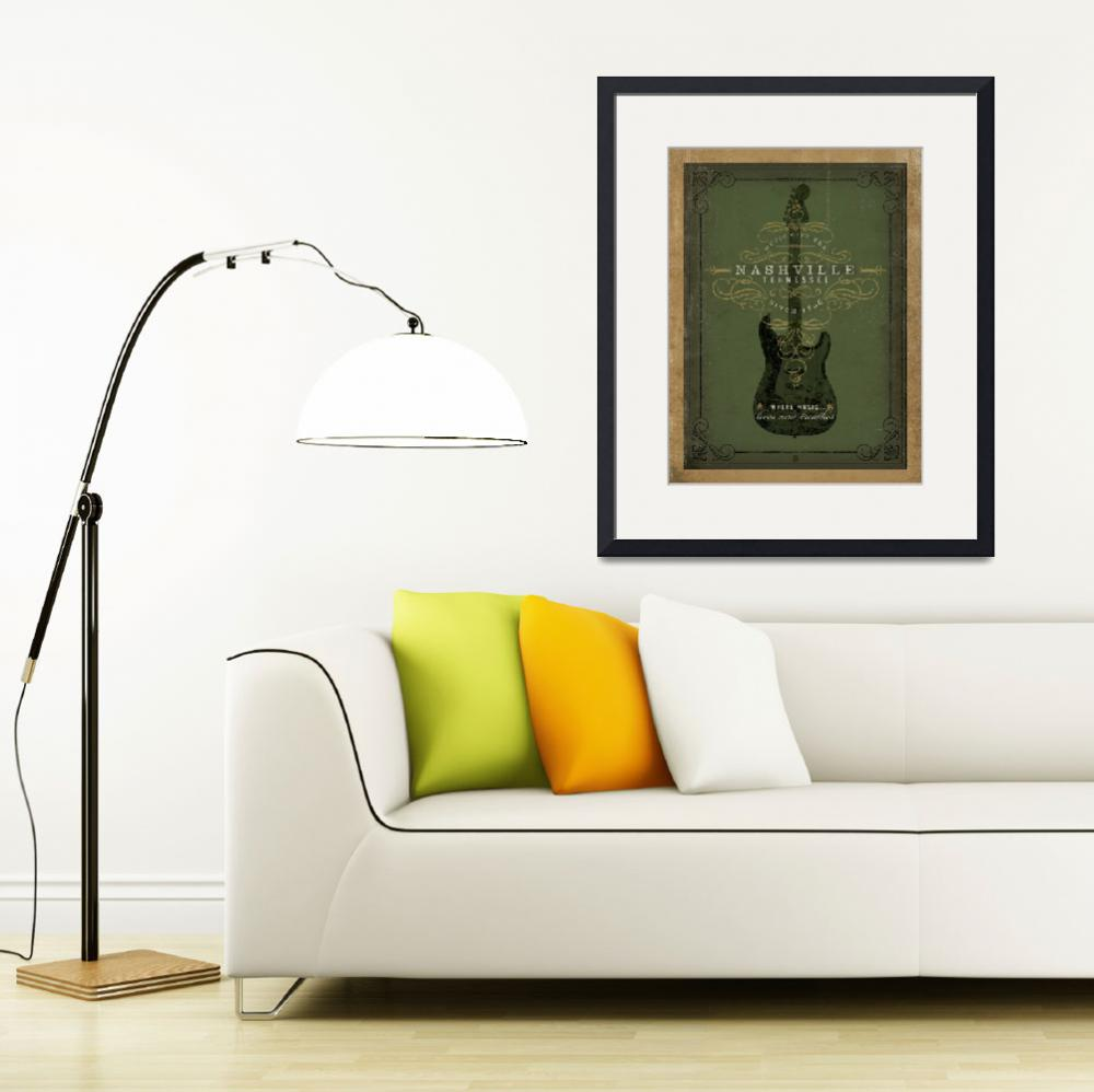"""""""Nashville, Tennessee: Where Music Lives and Breath&quot  by artlicensing"""