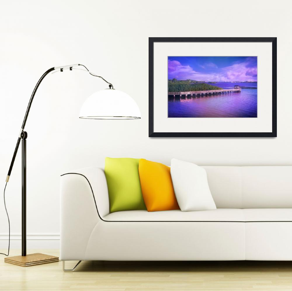 """""""Lovely Light on the Intracoastal Waterway&quot  (2015) by LynnBauer"""