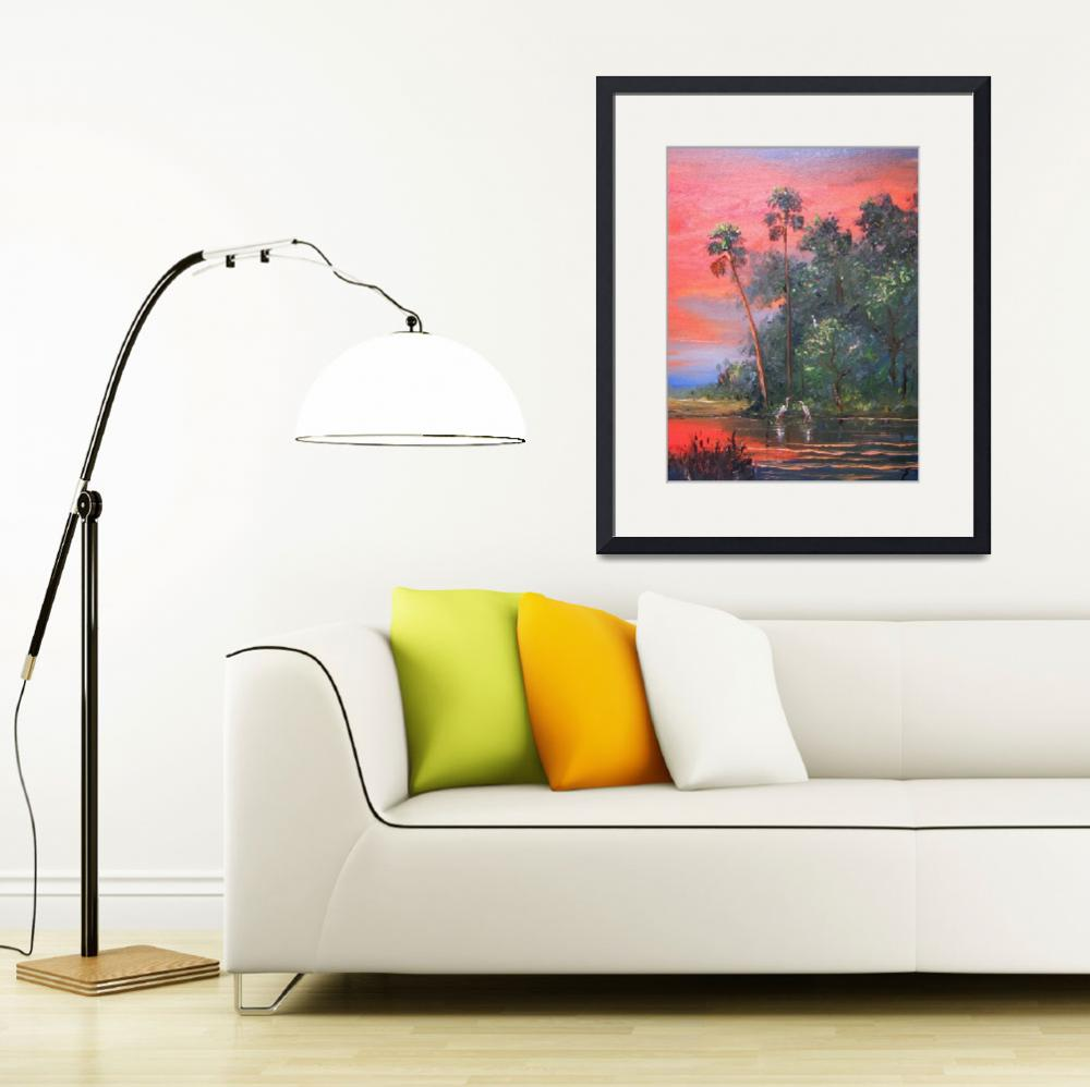 """""""Palm Trees in the Sunset&quot  (2011) by mazz"""