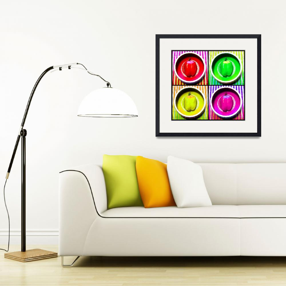 """""""Bell Pepper Rainbow&quot  (2013) by ShawnaRowe"""