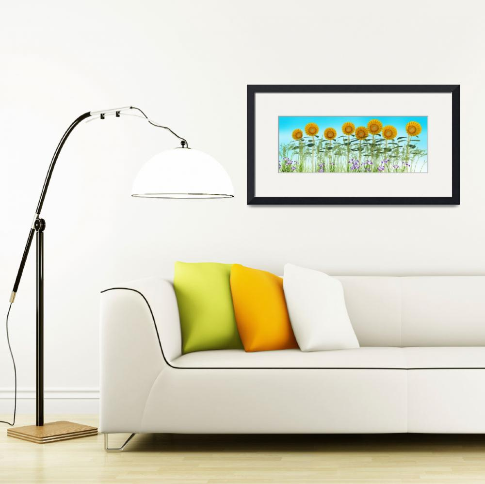 """""""Sunflowers in a Row""""  (2013) by walbyent"""