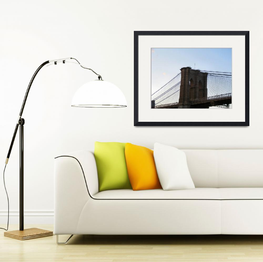 """Close up of Brooklyn Bridge Span&quot  by brooklyn"