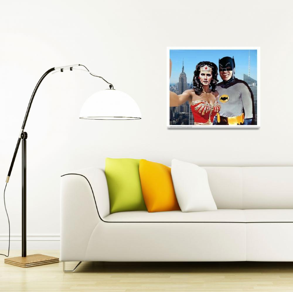 """""""Wonder Woman and Batman Selfie Empire State Buildi""""  (2018) by Automotography"""
