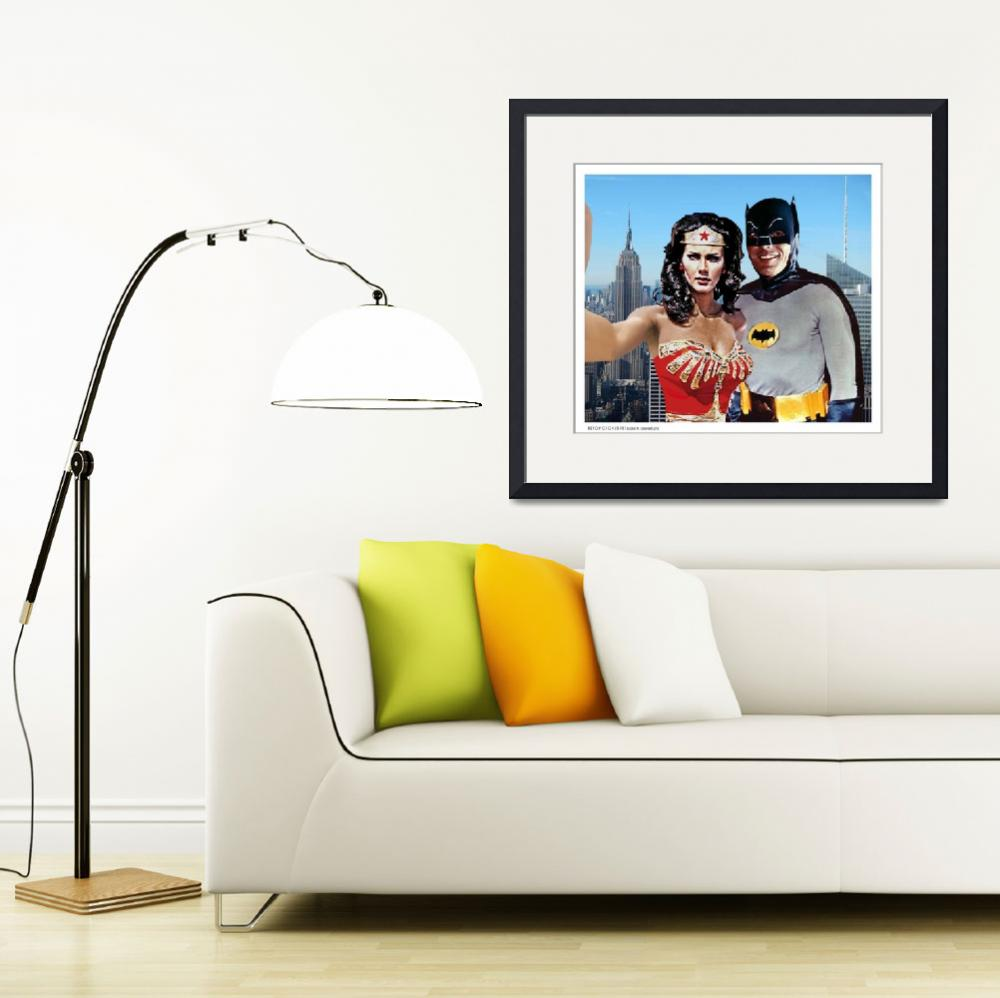 """Wonder Woman and Batman Selfie Empire State Buildi&quot  (2018) by Automotography"