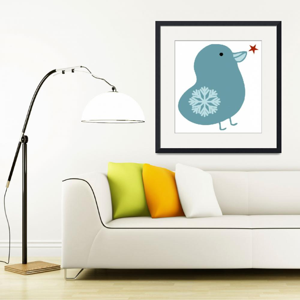 """Snowflake Bird&quot  by artlicensing"