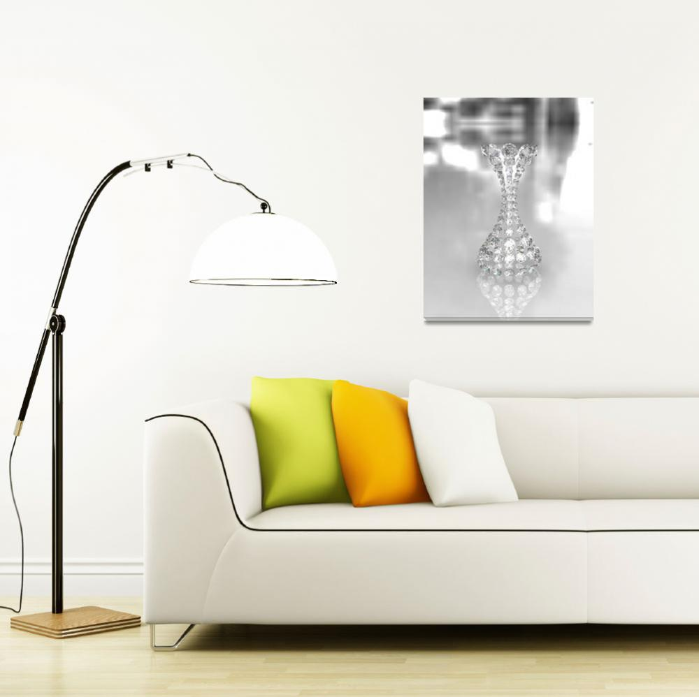 """""""Round Diamond Vase on Glossy Surface - 3D&quot  (2011) by Modern-Impressionism"""