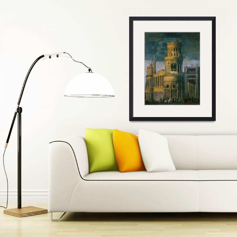 """""""Architectural fantasy depicting the martyrdom of a&quot  by fineartmasters"""