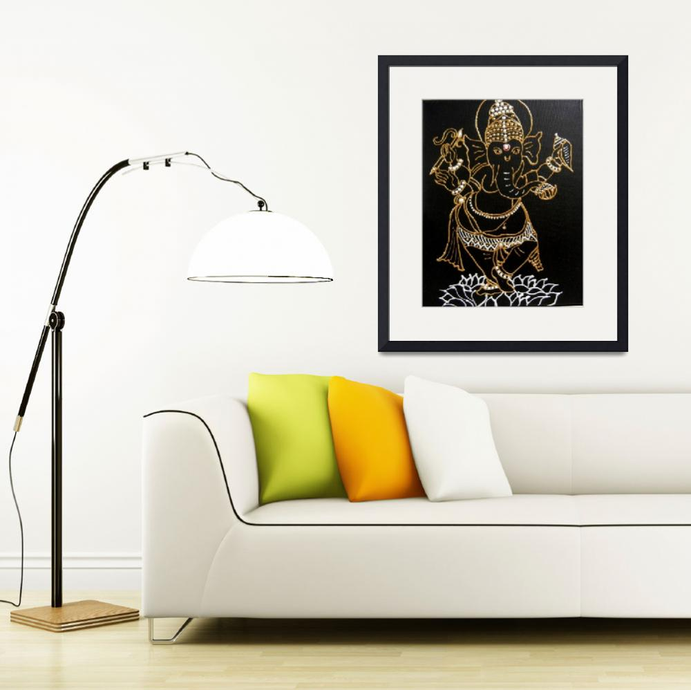 """Dancing Ganesh""  (2012) by KrutisKreations"