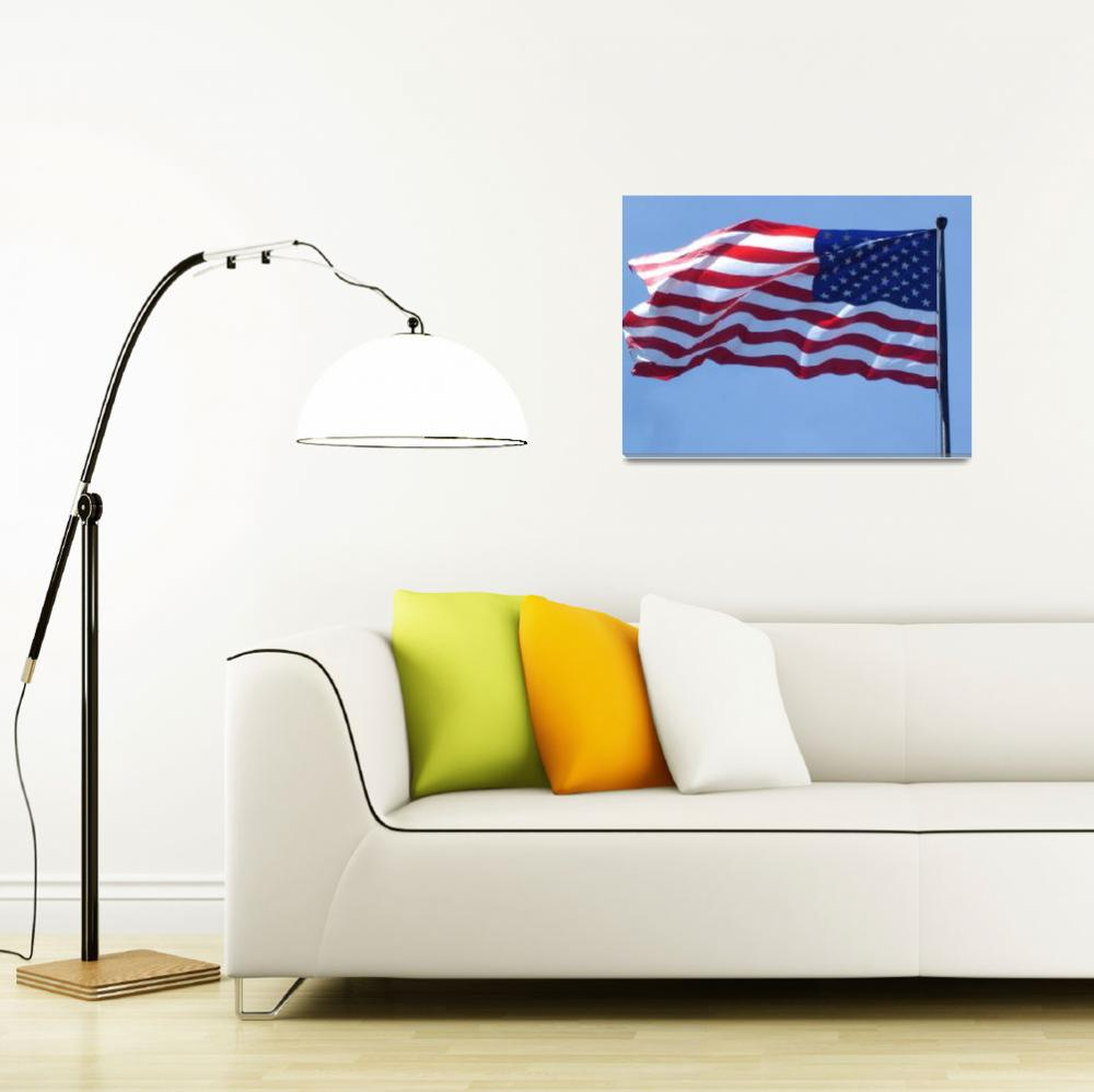 """""""American Flag at Washington DC&quot  (2008) by whateverdesign"""
