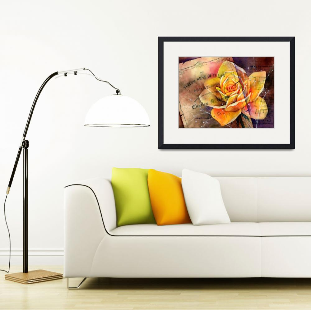 """""""Yellow Rose of Texas&quot  (2013) by HaileyWatermedia"""