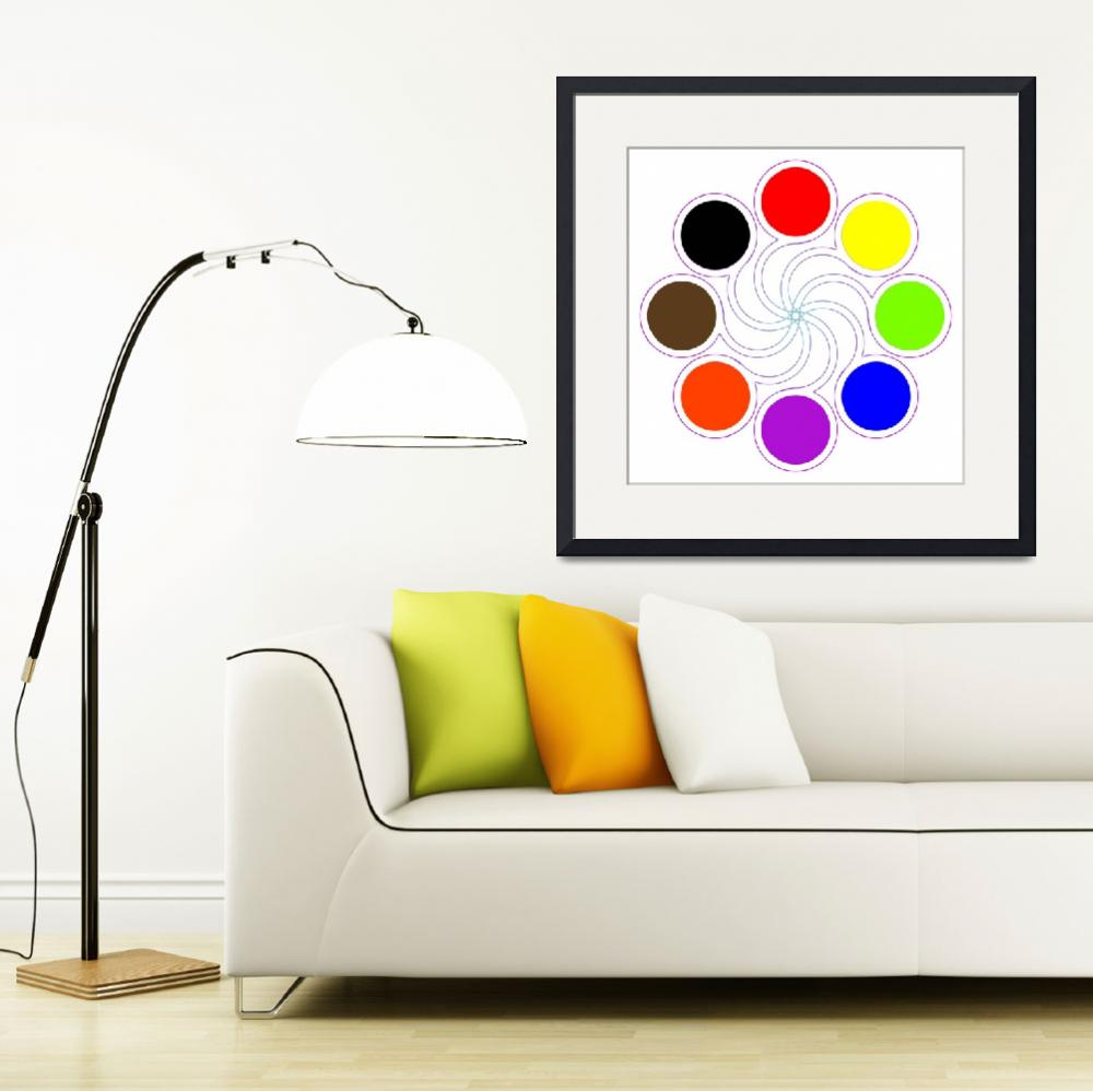 """""""round color palette with eight basic colors&quot  by robertosch"""