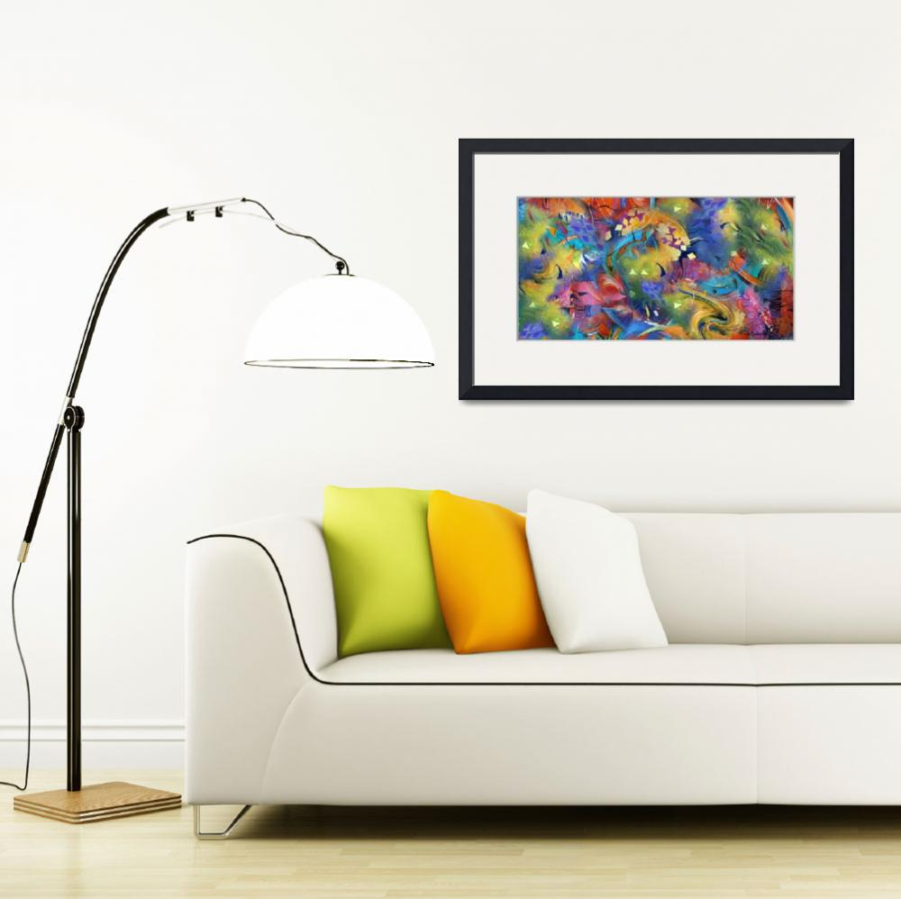 """Fascination Art Print Colorful Wall Decor by Julee&quot  by JuleezArt"