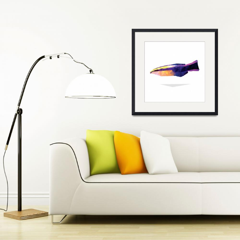 """Geometric Abstract Royal Hawaiian Cleaner Wrasse""  (2014) by Aquanaut"
