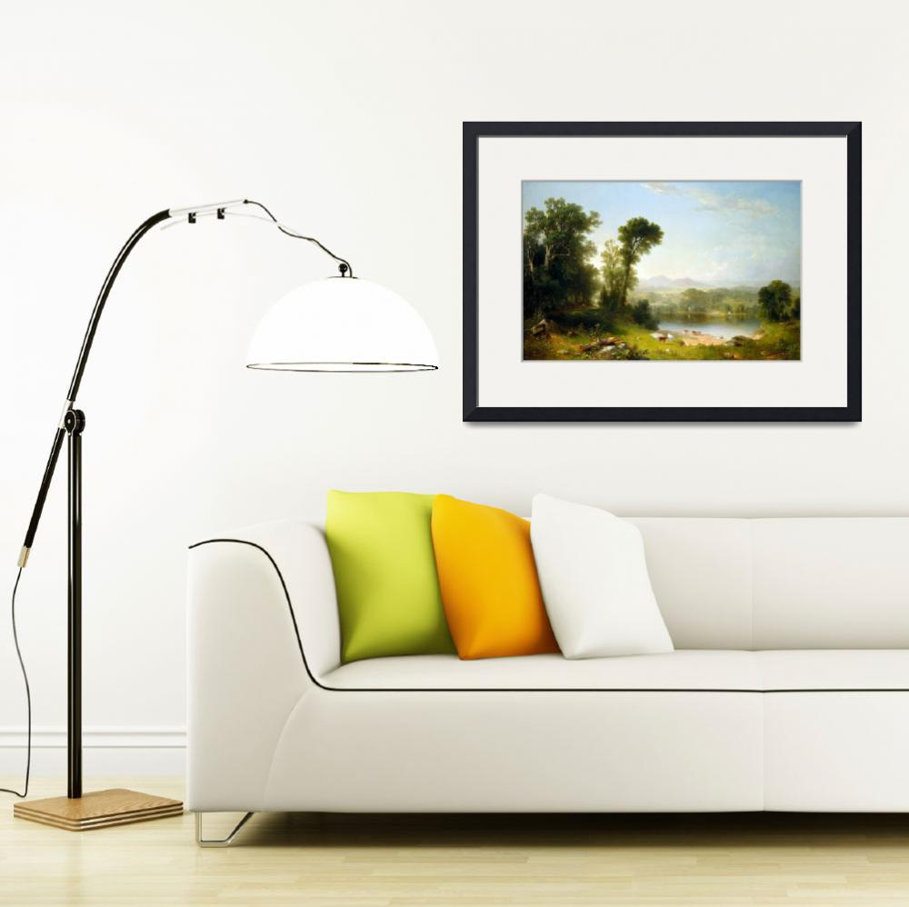 """""""Asher Brown Durand Pastoral Landscape""""  by PDGraphics"""
