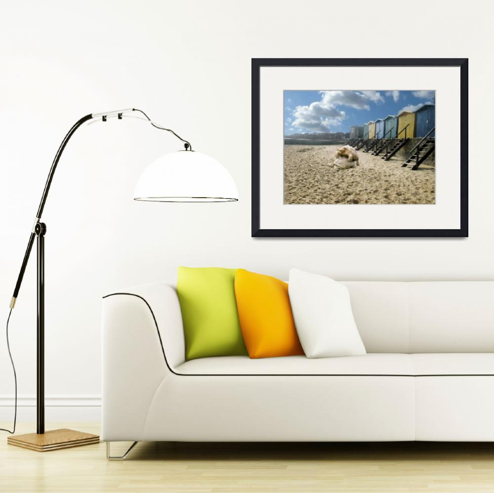 """""""Walton on the Naze beach huts, sex on the beach .""""  (2009) by AnitaBell"""