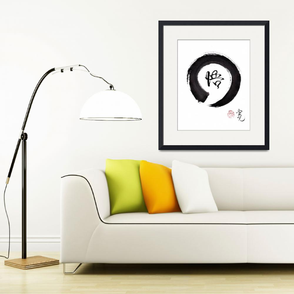 """Enso Enlightenment&quot  (2017) by oystudio"