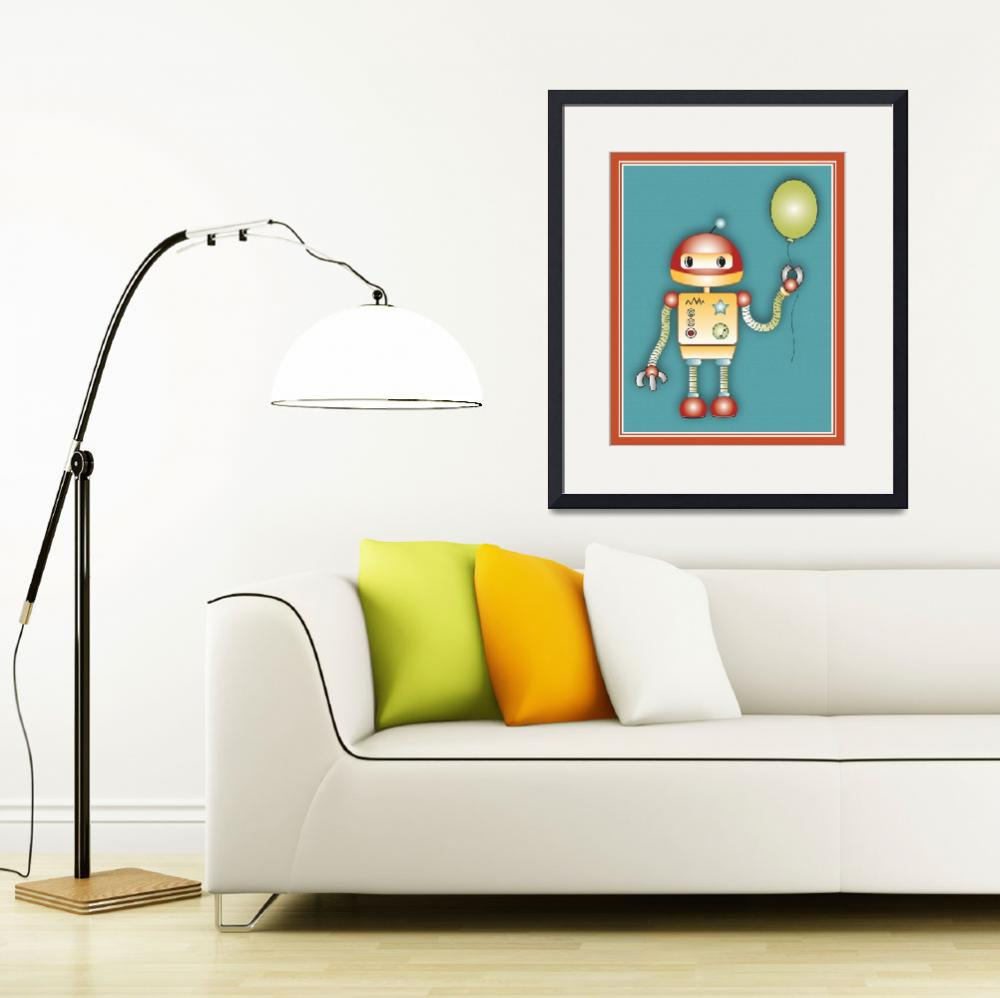 """Robot With a Balloon&quot  (2014) by Littlepig"