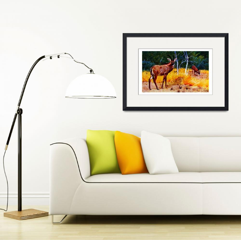 """""""The Roan Antelope,Hippotragus equinus""""  by markkumurto"""