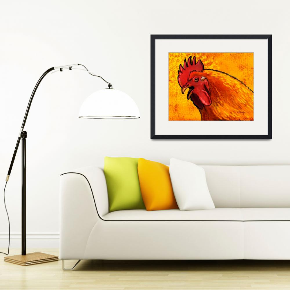 """""""Rooster Head""""  by Tim"""