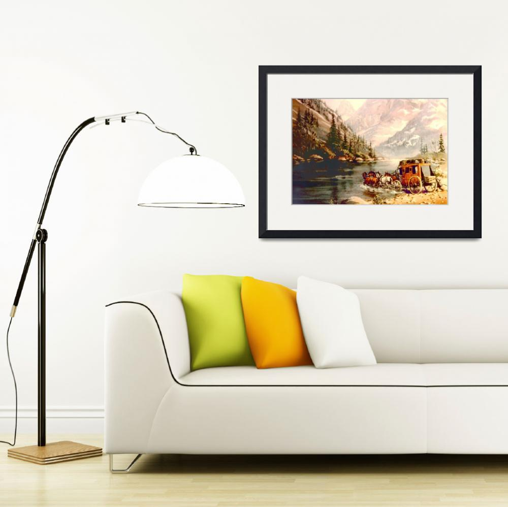 """""""RIVER STAGECOACH by SHARON SHARPE&quot  by SharonSharpe"""