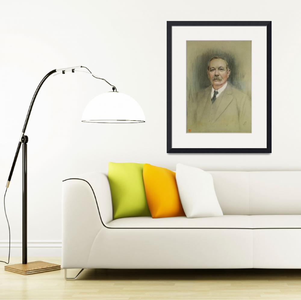 """Portrait of Sir Arthur Conan Doyle&quot  by fineartmasters"