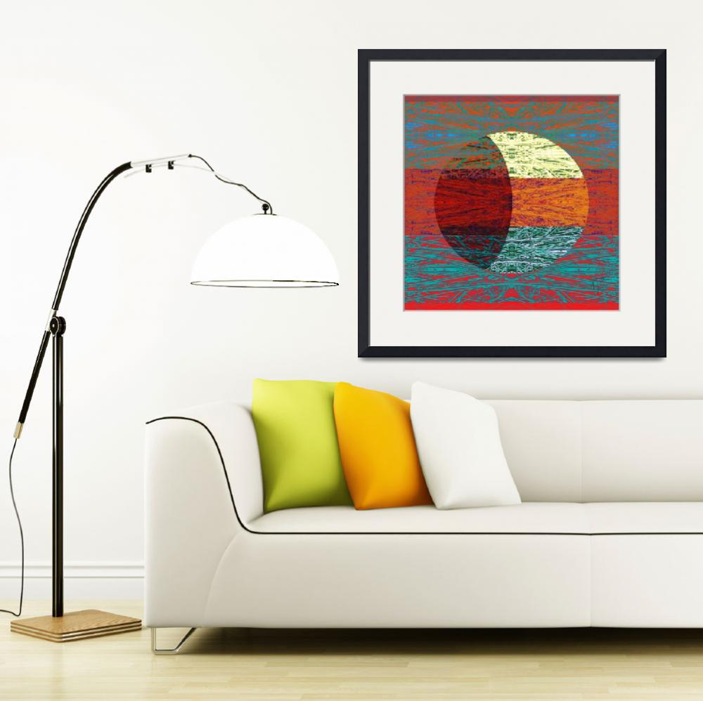 """""""Lunar Phase with Red&quot  (2011) by Leyland"""