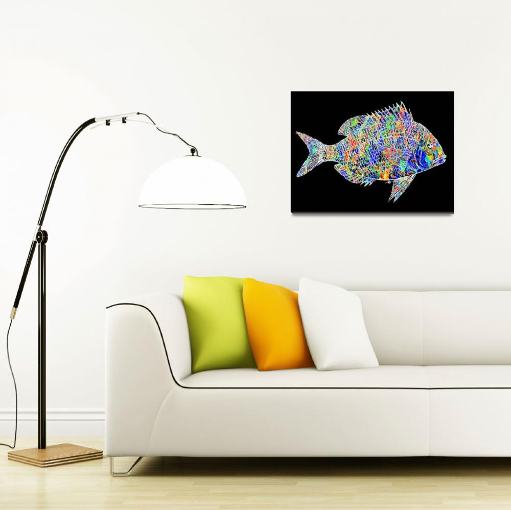 """Fish Study 2""  (2017) by RubinoFineArt"